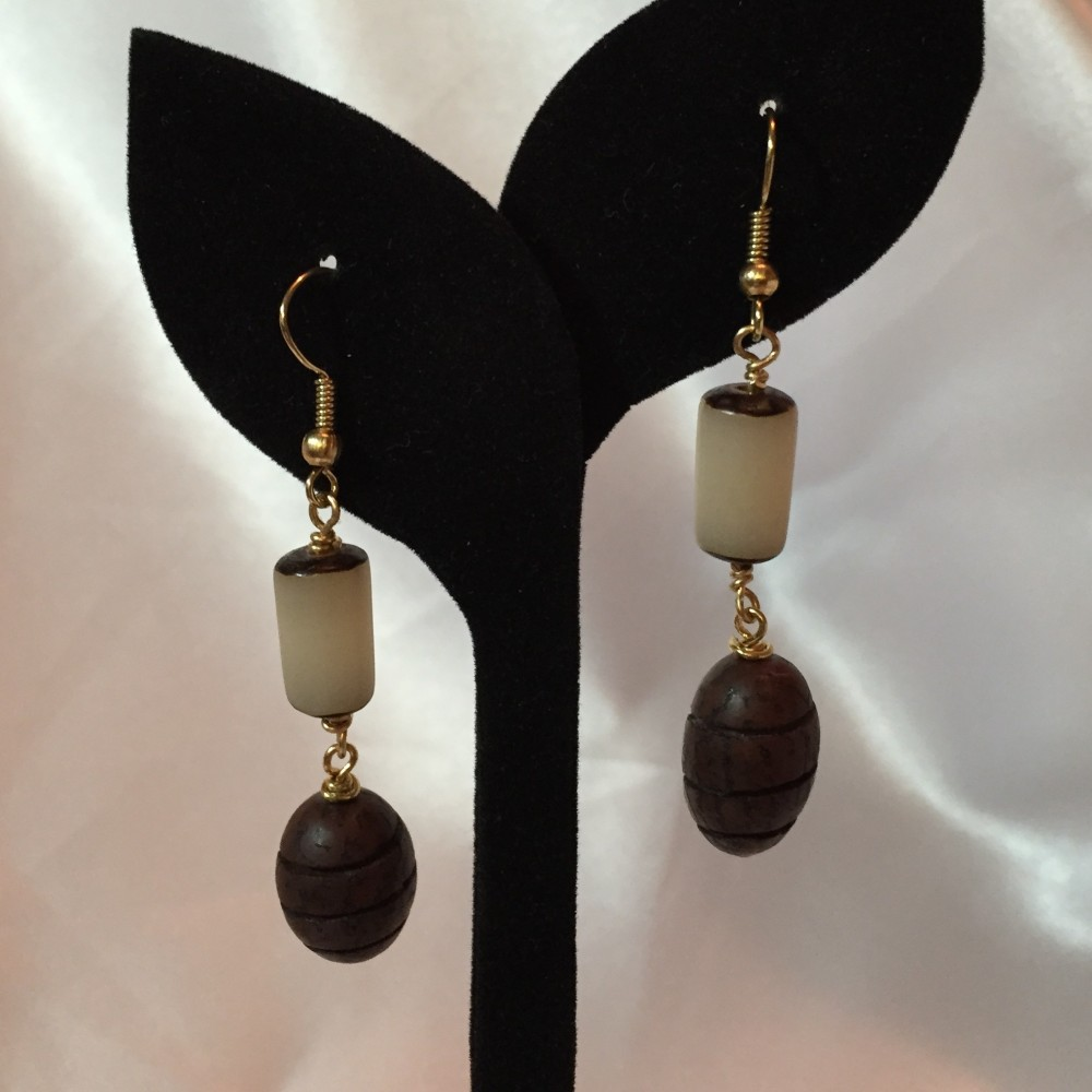 Earrings made with
