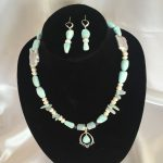 Set made with Larimar, Amethyst, Aquamarine, Pearl and Silver