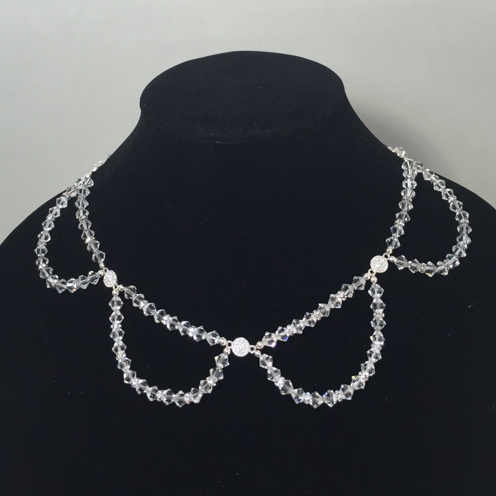 Necklace made with crystals and silver