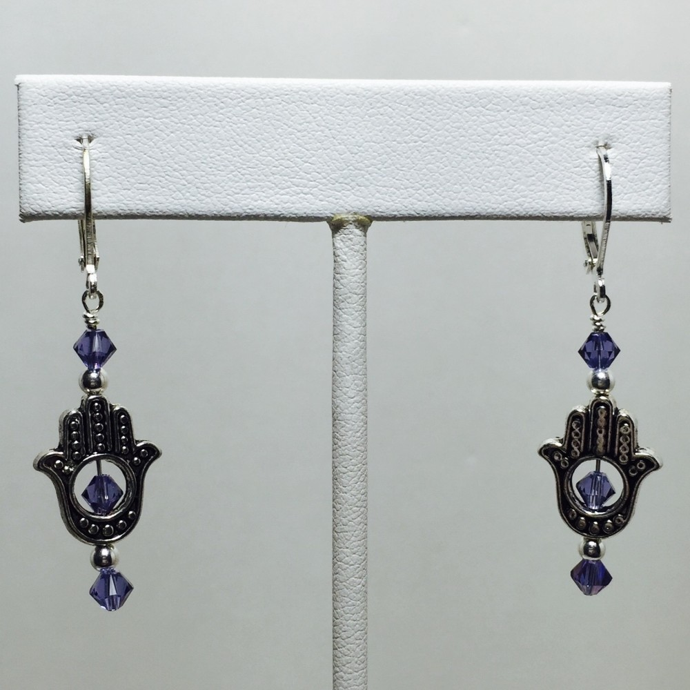 Earrings made with Swarovski Crystals and Sterling Silver