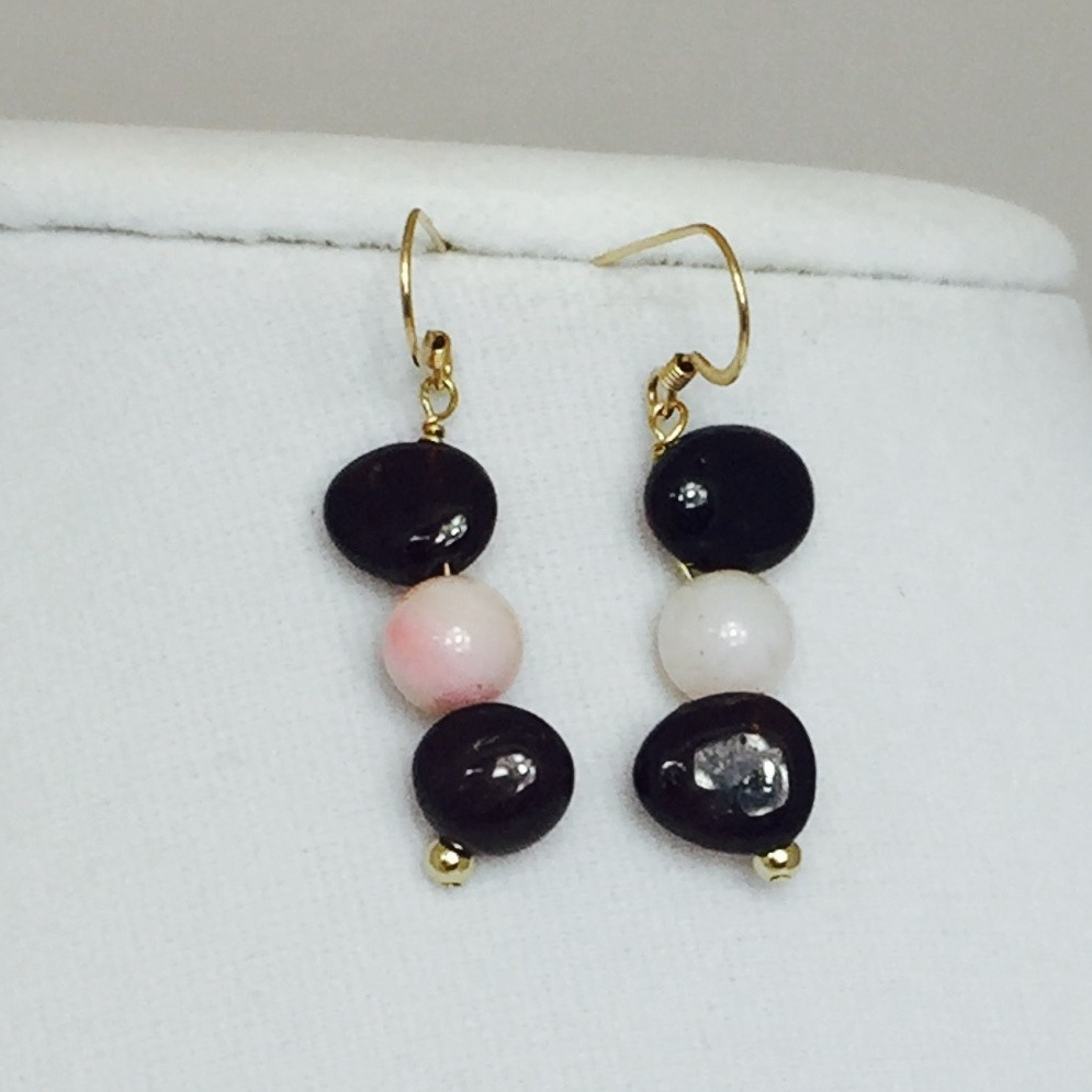Garnet, Opal and Gold Earrings