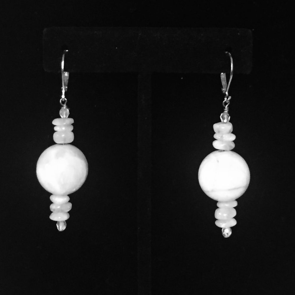 Moonstone and Crystal Earrings