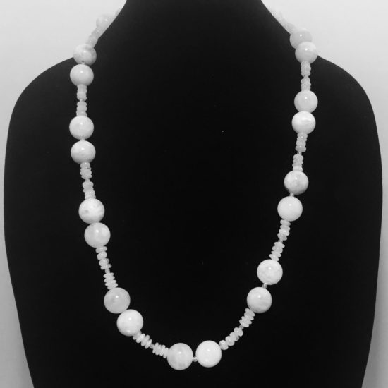 Moonstone and Crystals Necklace