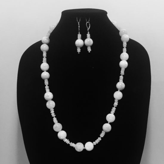 Moonlight and Crystals Necklace and Earrings Set
