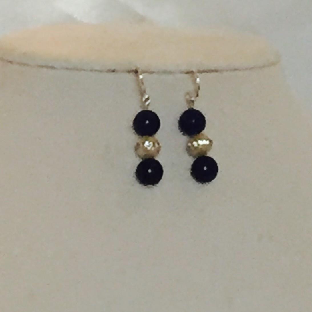 pearls, Lapis Earrings