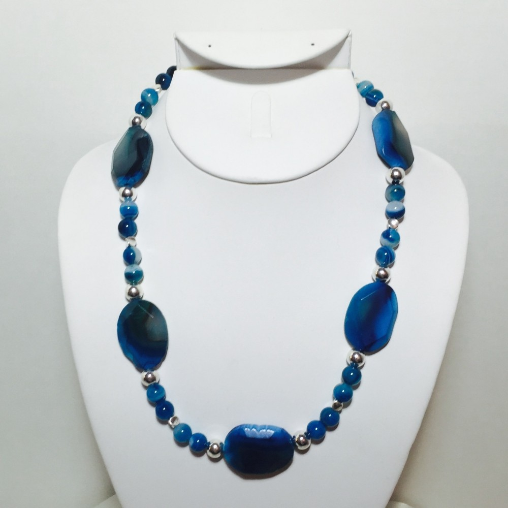 Agate and Silver Necklace