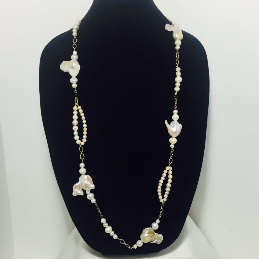 Pearl and Gold Filled Necklace