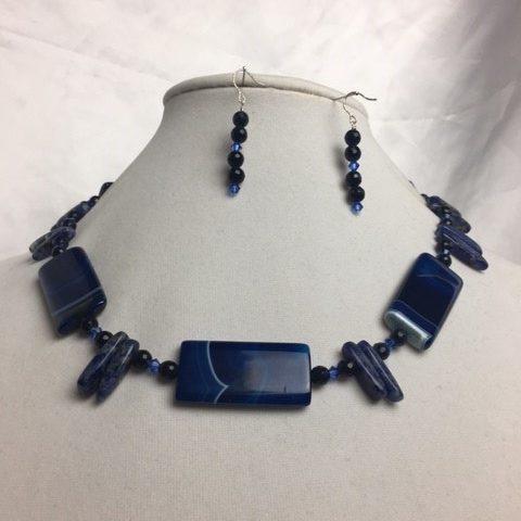 Agate, Sodalite , Quartz and Crystal Set