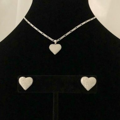 Swarovski Crystal and Sterling Silver Necklace and Earrings Set