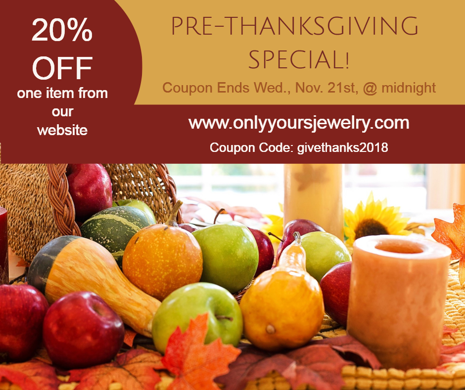 PRE-THANKSGIVING SPECIAL!
