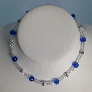 Crystal and Silver Plate Necklace for Children