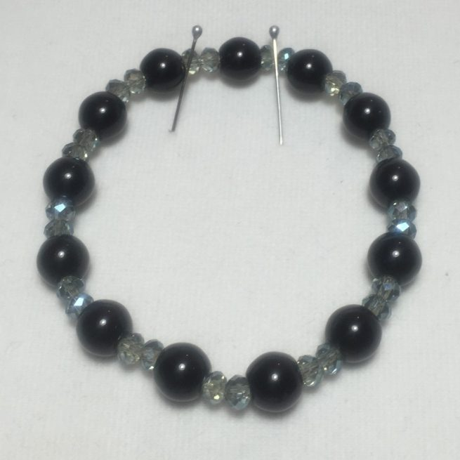 A lovely bracelet made with crystal and Jasper