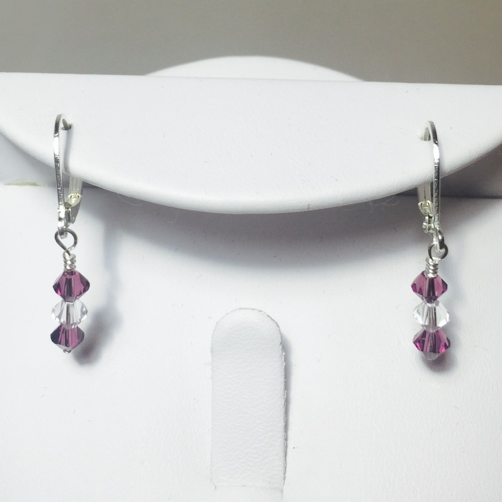 Swarovski Crystal and Silver Plate Earrings Set