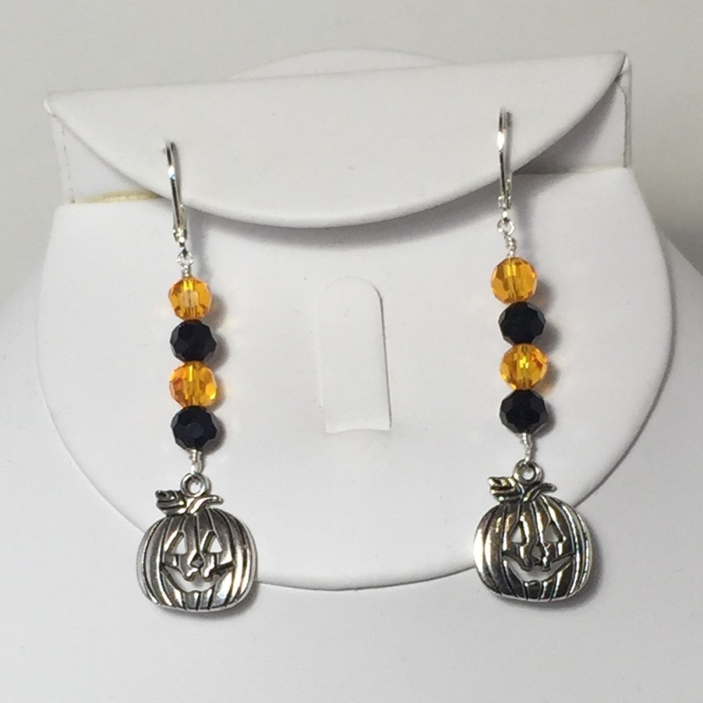 Silver Plate and Crystal Earrings