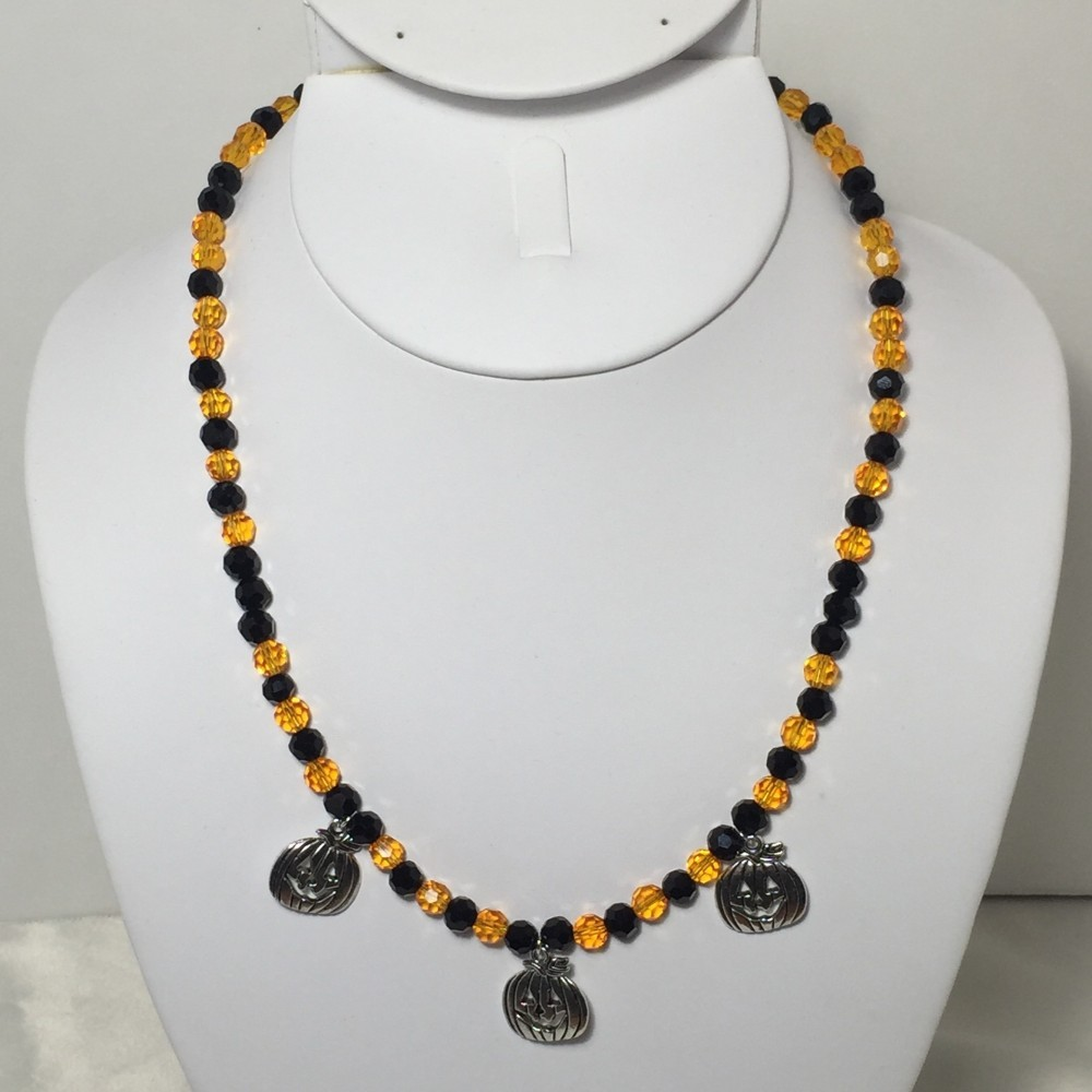Silver Plate and Crystal Necklace