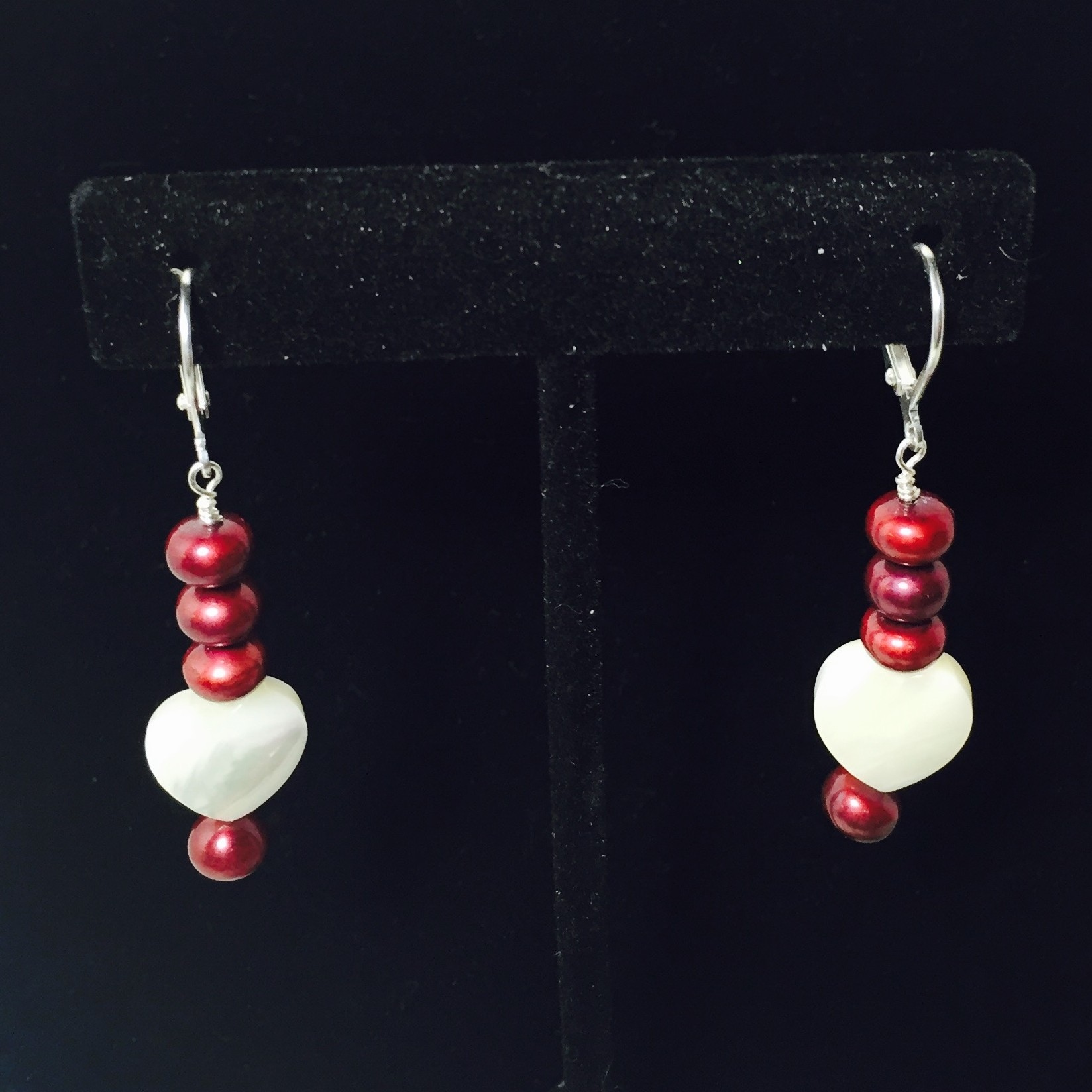 Pearl, Mother of Pearl and Sterling Silver Earrings