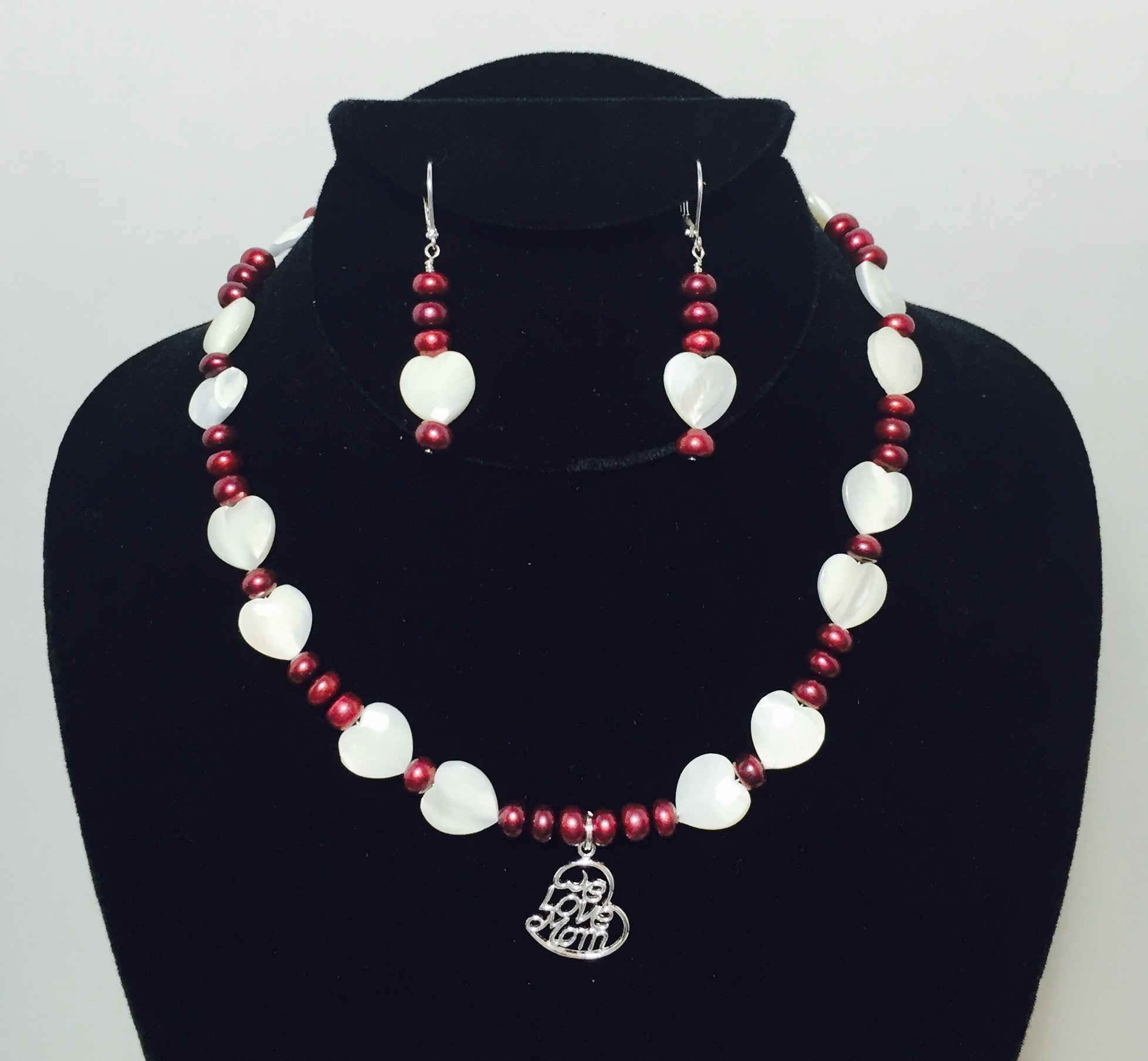Pearl, Mother of Pearl and Sterling Silver Necklace