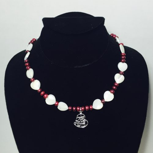 Pearl, Mother of Pearl and Sterling Silver Necklace and Earrings Set