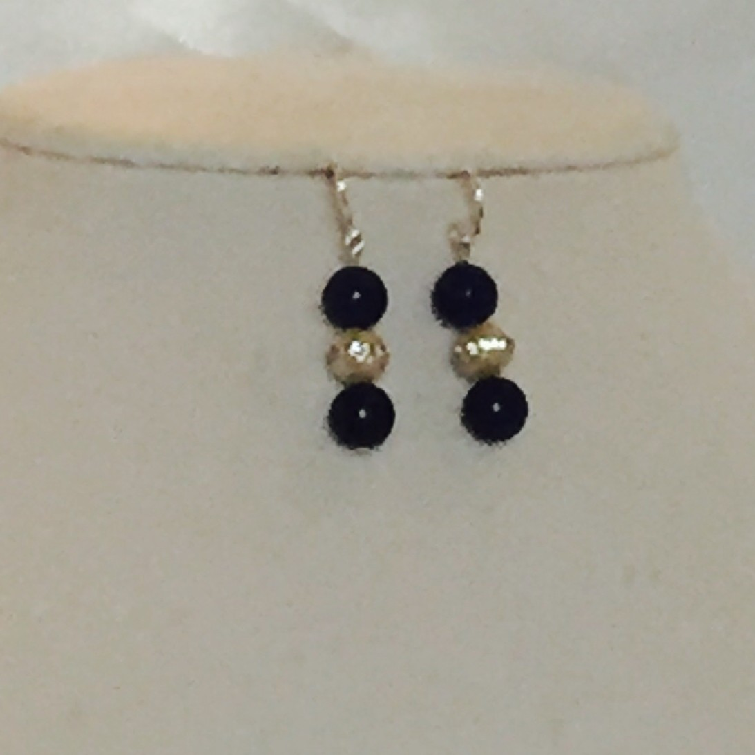 pearls, Lapis Earrings