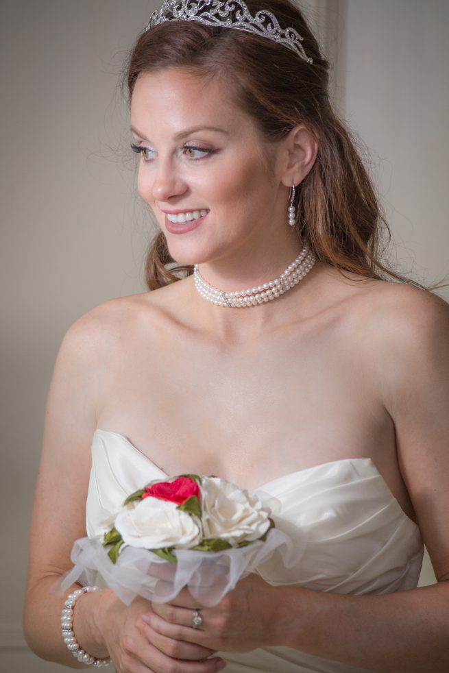 Pearl, Crystal and Silver Necklace, Earrings and Bracelet Set