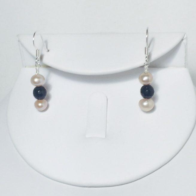 Pearl and Onyx Earrings