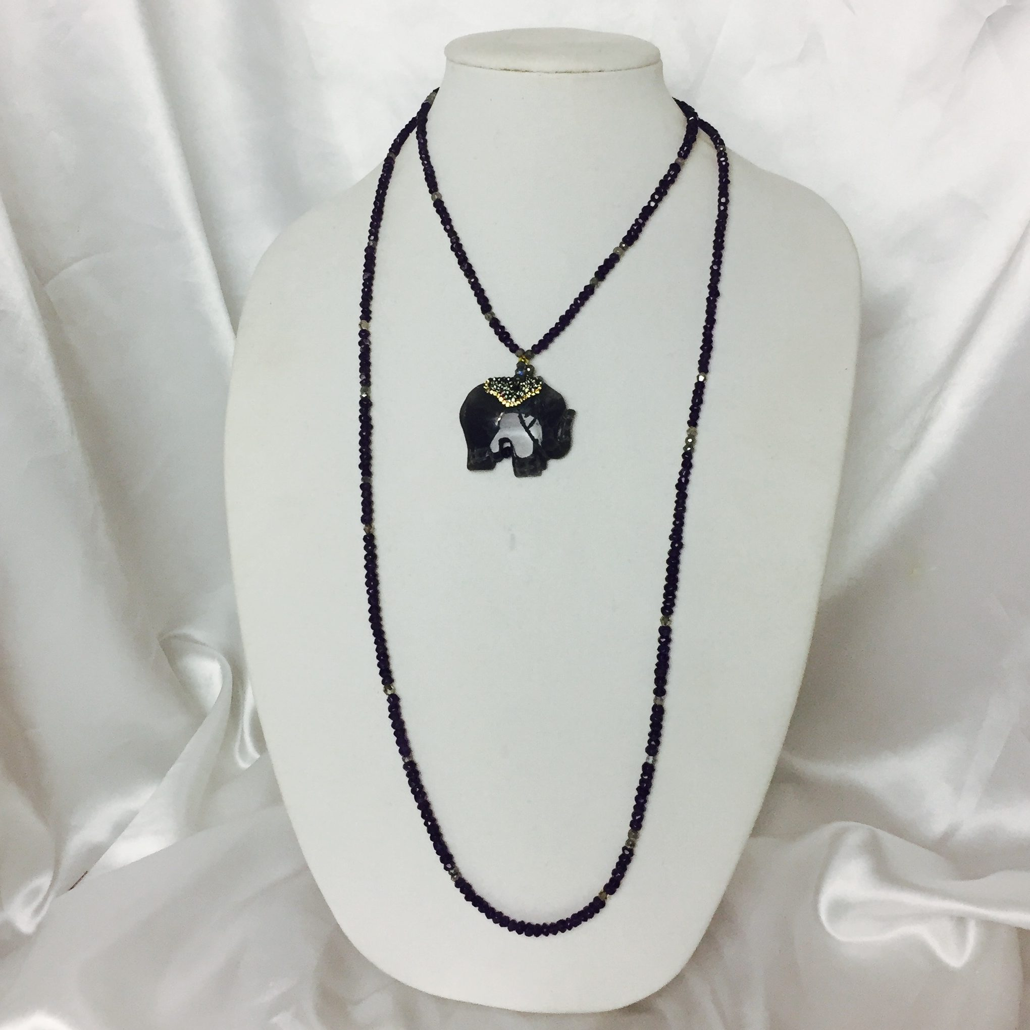 Amethyst, Labradorite and Crystal Necklace