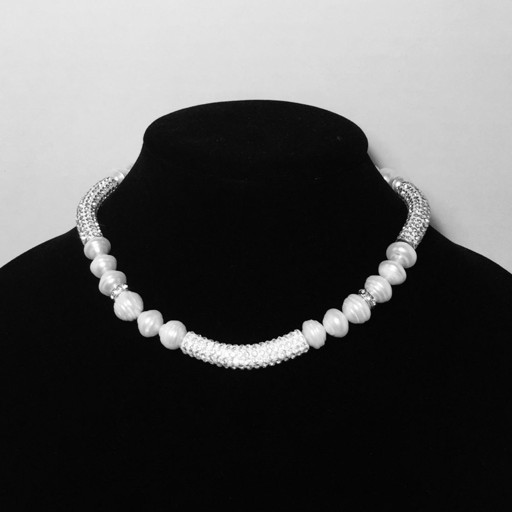 Pearl and Crystal Necklace