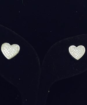 Glittering Heart Earrings