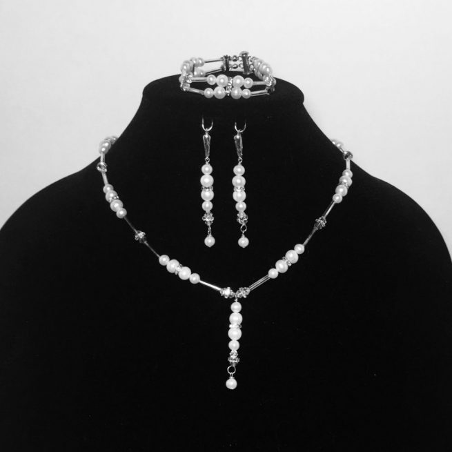 Pearl and Swarovski Crystal Set