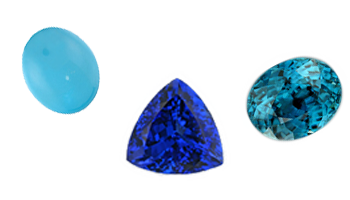 December Birthstones: Tanzanite, Zircon, Turquoise